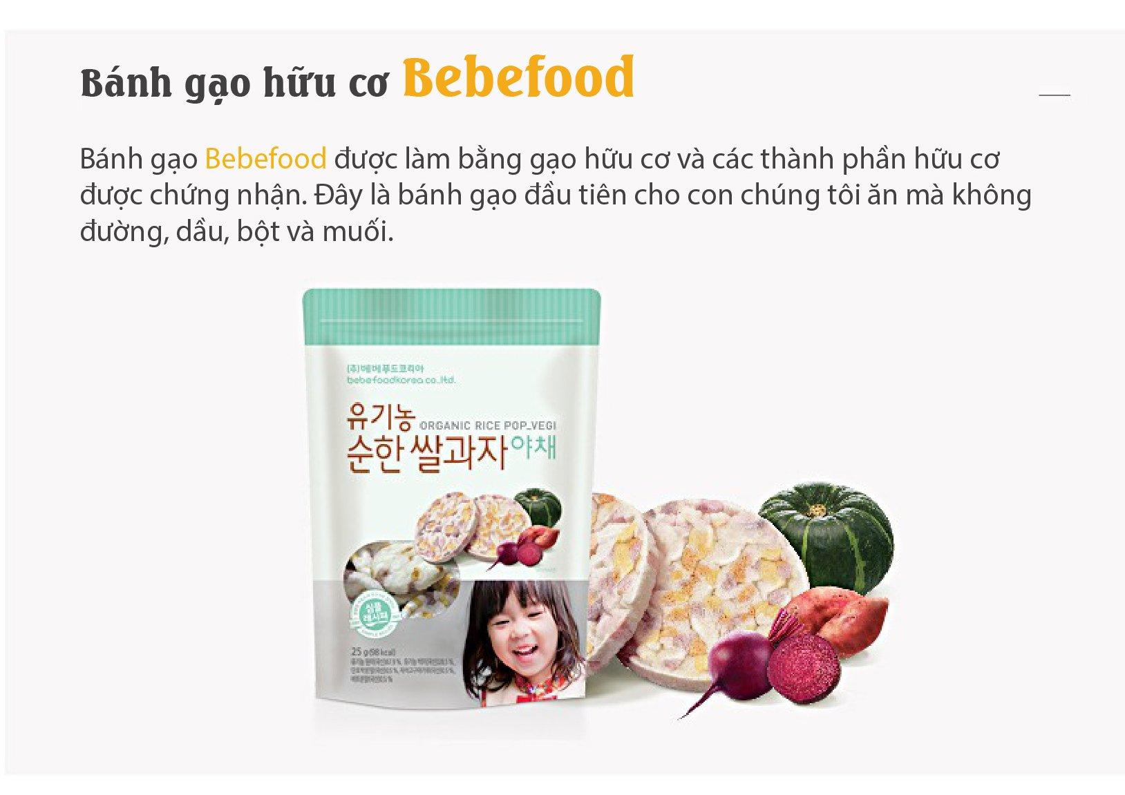 Bánh gạo ăn dặm hữu cơ Bebefood Hàn Quốc 4