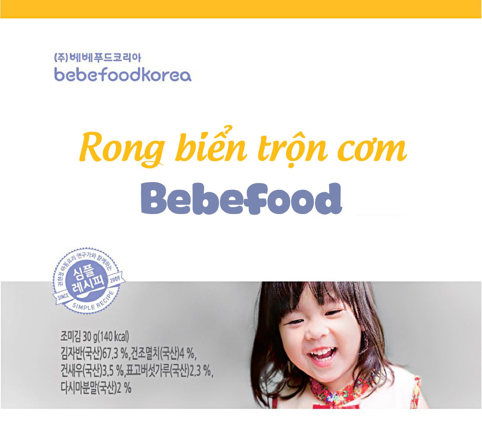 Rong biển trộn cơm cho bé Bebefood Hàn Quốc 30gr 1