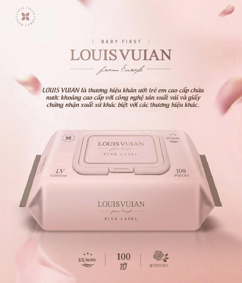 Khăn giấy ướt cho bé Louis Vuian 100 miếng Hàn Quốc 1