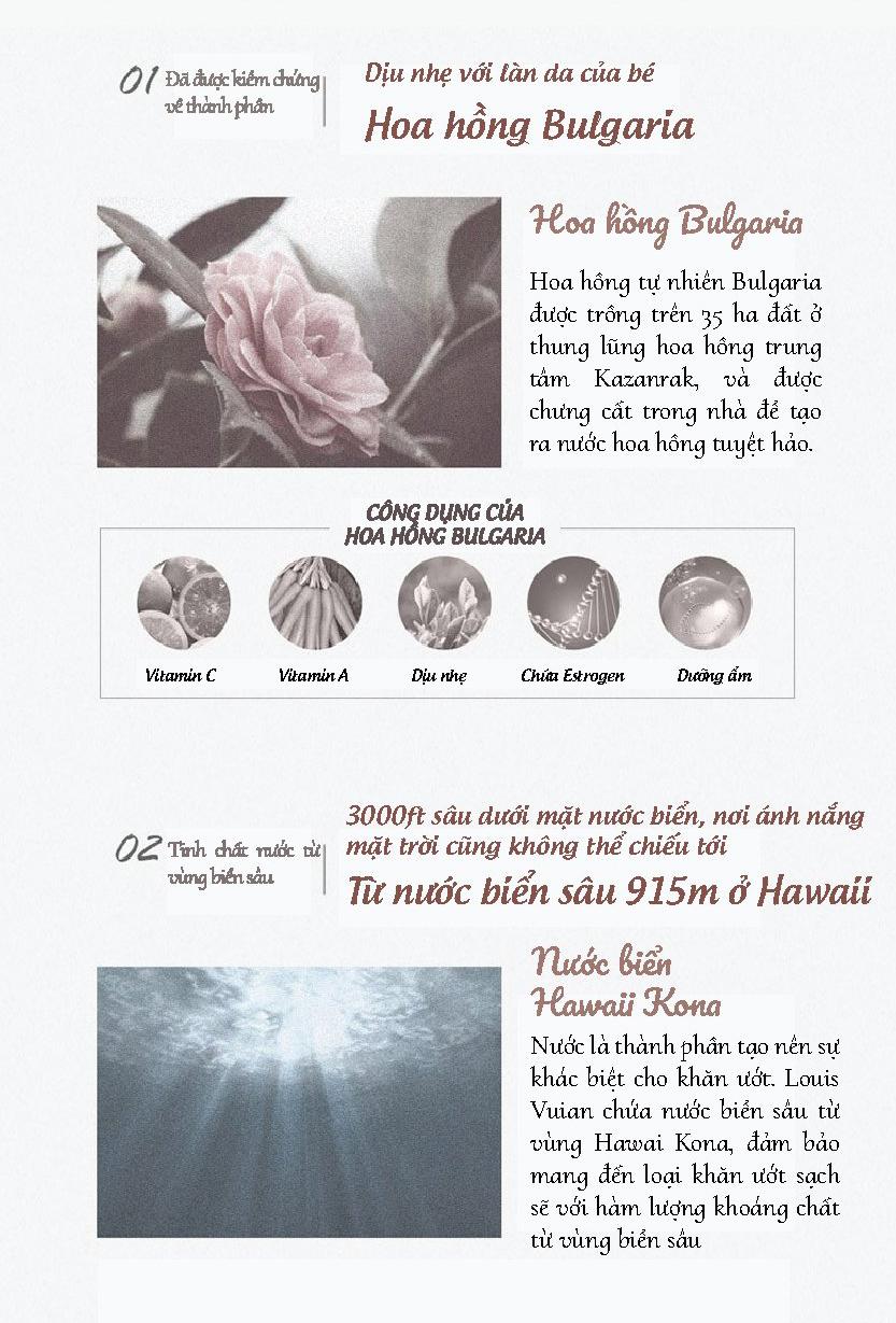 Khăn giấy ướt cho bé Louis Vuian 100 miếng Hàn Quốc 3