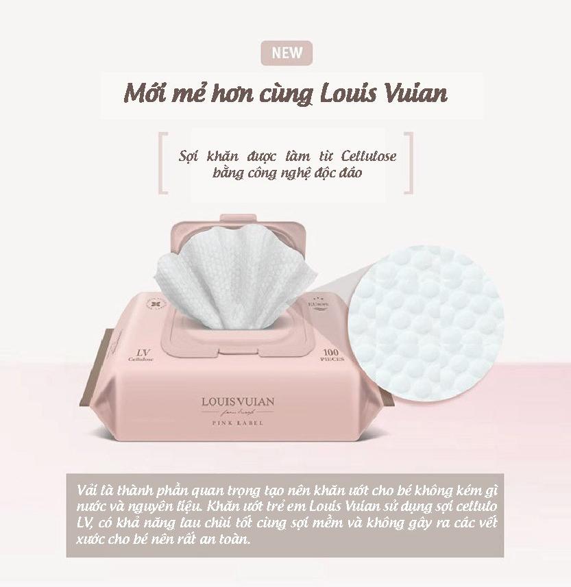 Khăn giấy ướt cho bé Louis Vuian 100 miếng Hàn Quốc 5