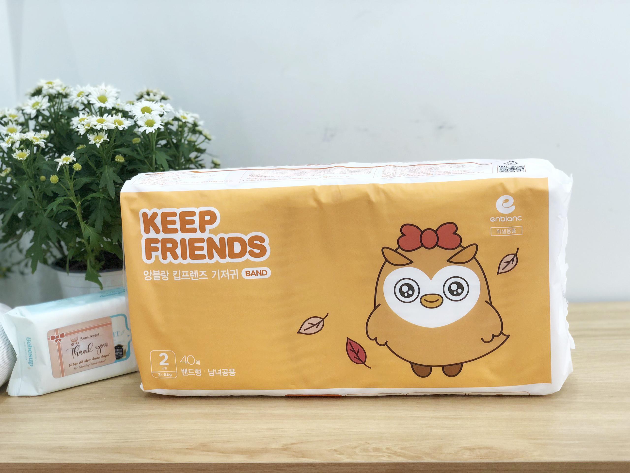 Tã bỉm dán Enblanc Keep Friends Hàn Quốc siêu thấm 2