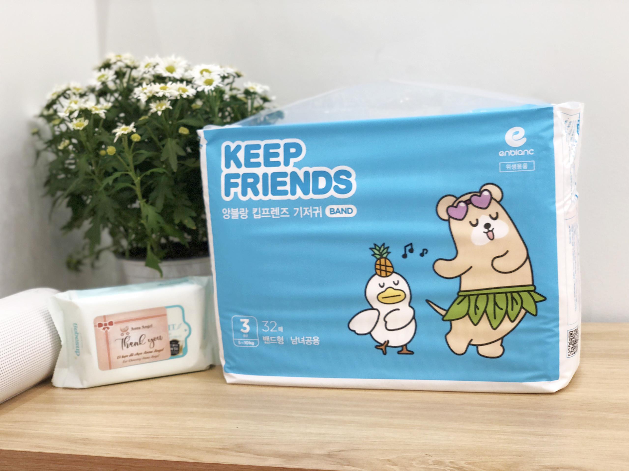 Tã bỉm dán Enblanc Keep Friends Hàn Quốc siêu thấm 3
