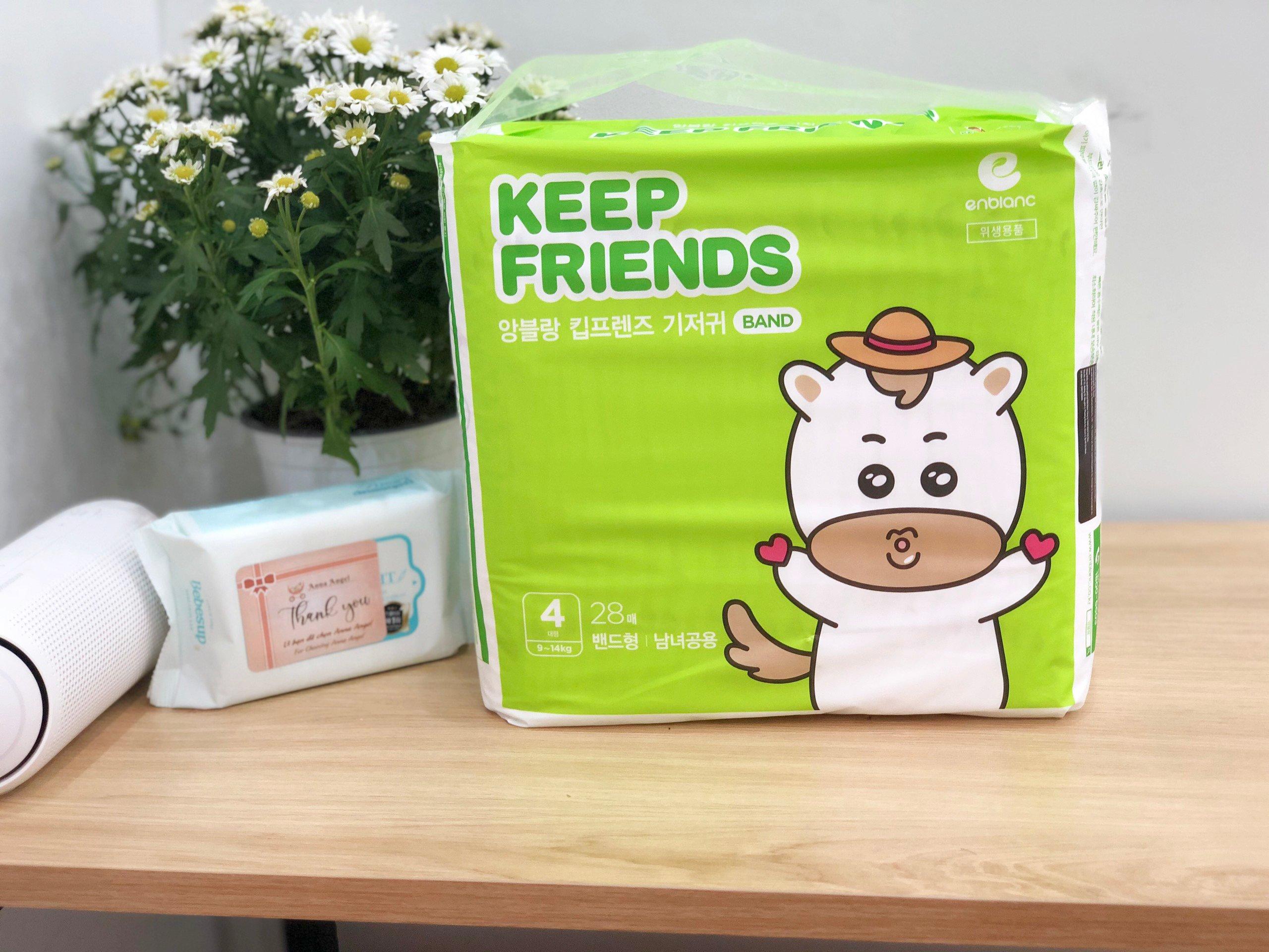 Tã bỉm dán Enblanc Keep Friends Hàn Quốc siêu thấm 4