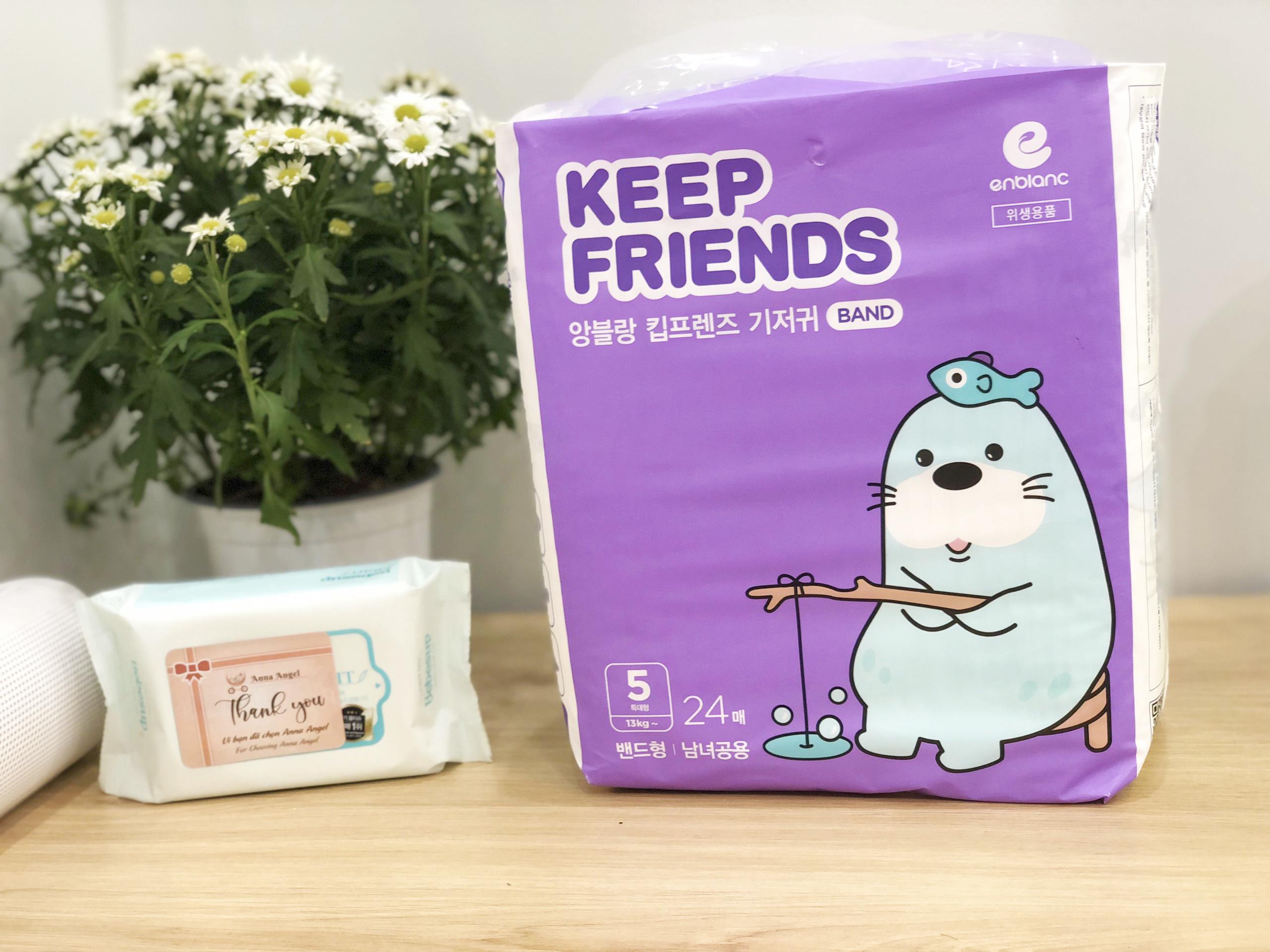 Tã bỉm dán Enblanc Keep Friends Hàn Quốc siêu thấm 5