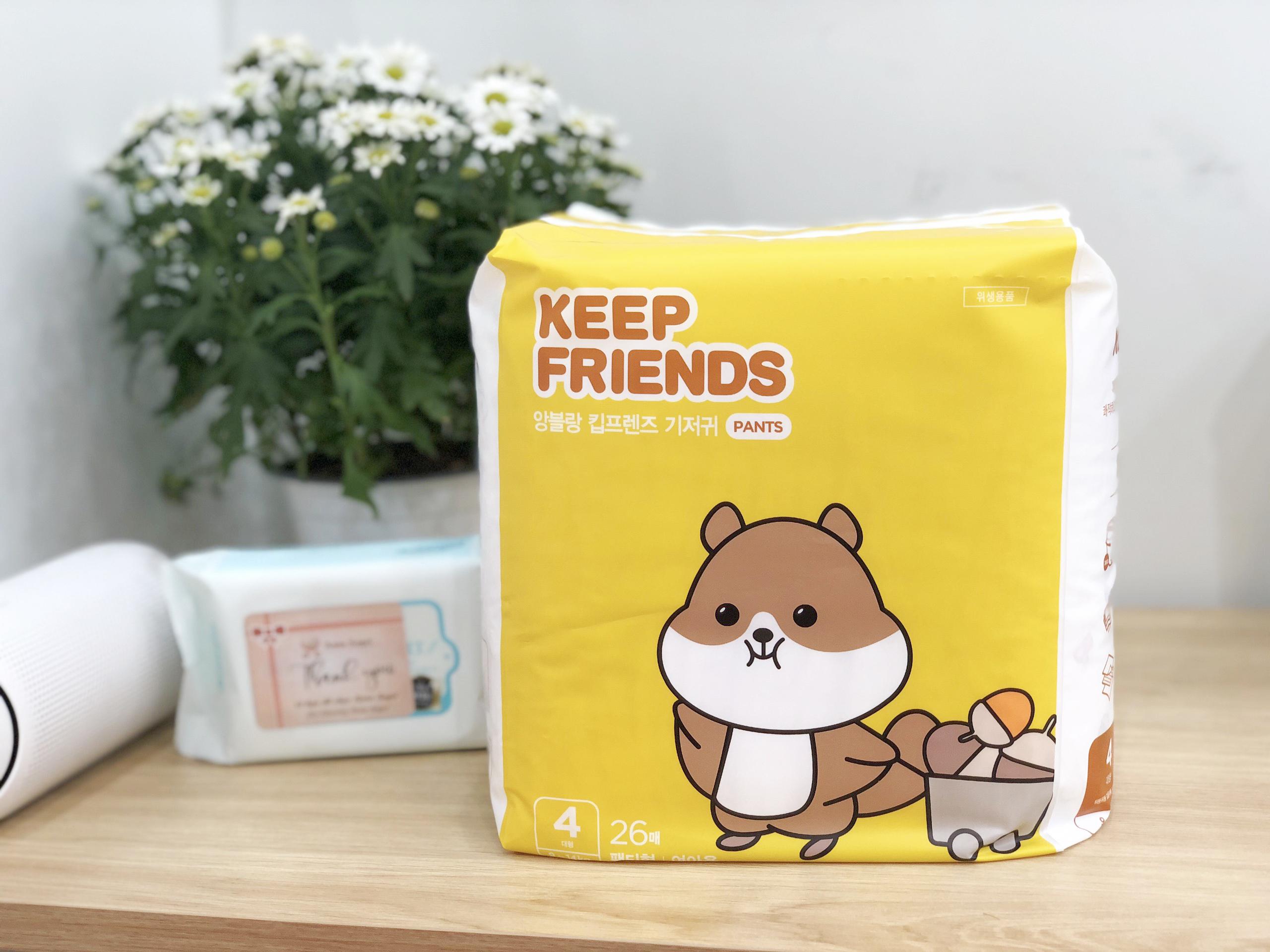 Tã bỉm quần Enblanc Keep Friends Hàn Quốc siêu thấm 2