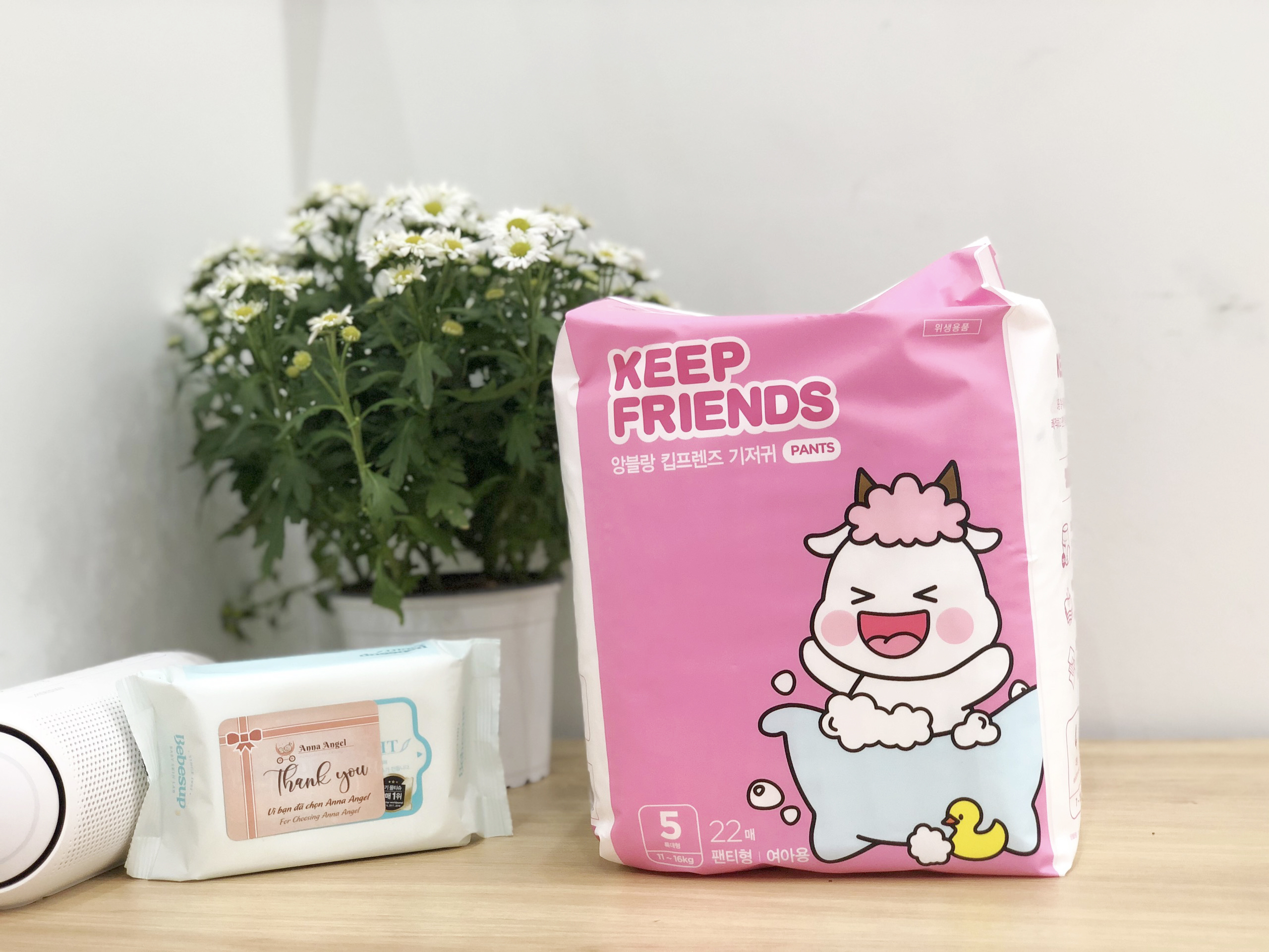 Tã bỉm quần Enblanc Keep Friends Hàn Quốc siêu thấm 3