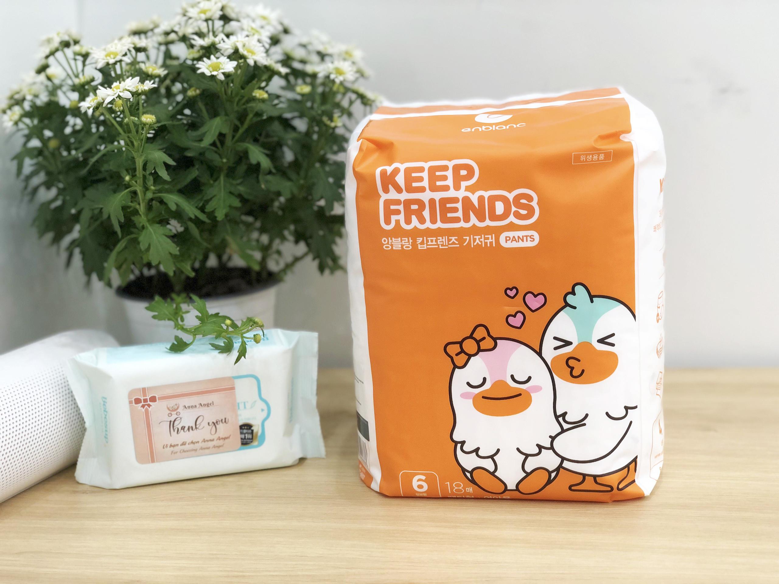 Tã bỉm quần Enblanc Keep Friends Hàn Quốc siêu thấm 4