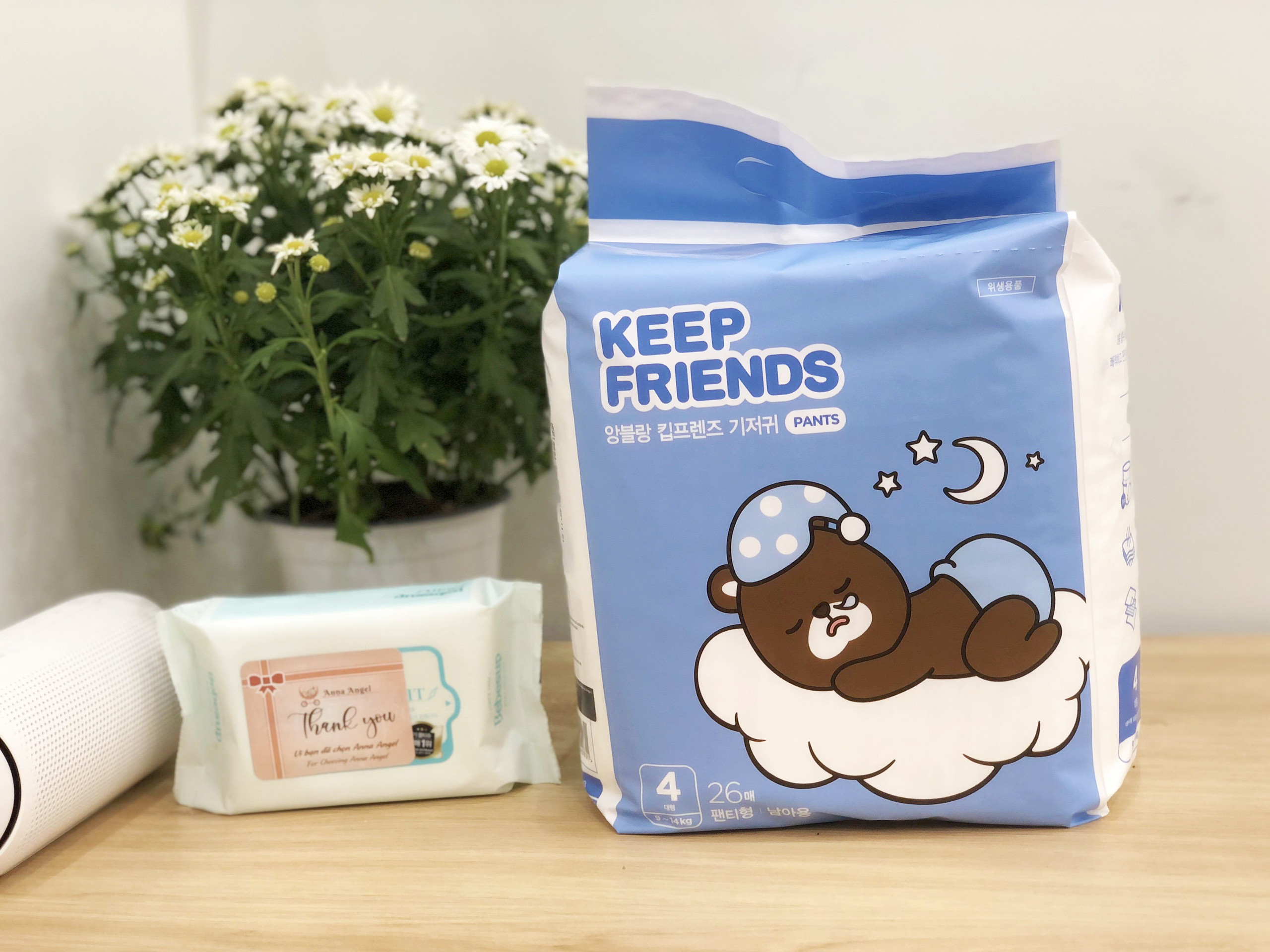 Tã bỉm quần Enblanc Keep Friends Hàn Quốc siêu thấm 5