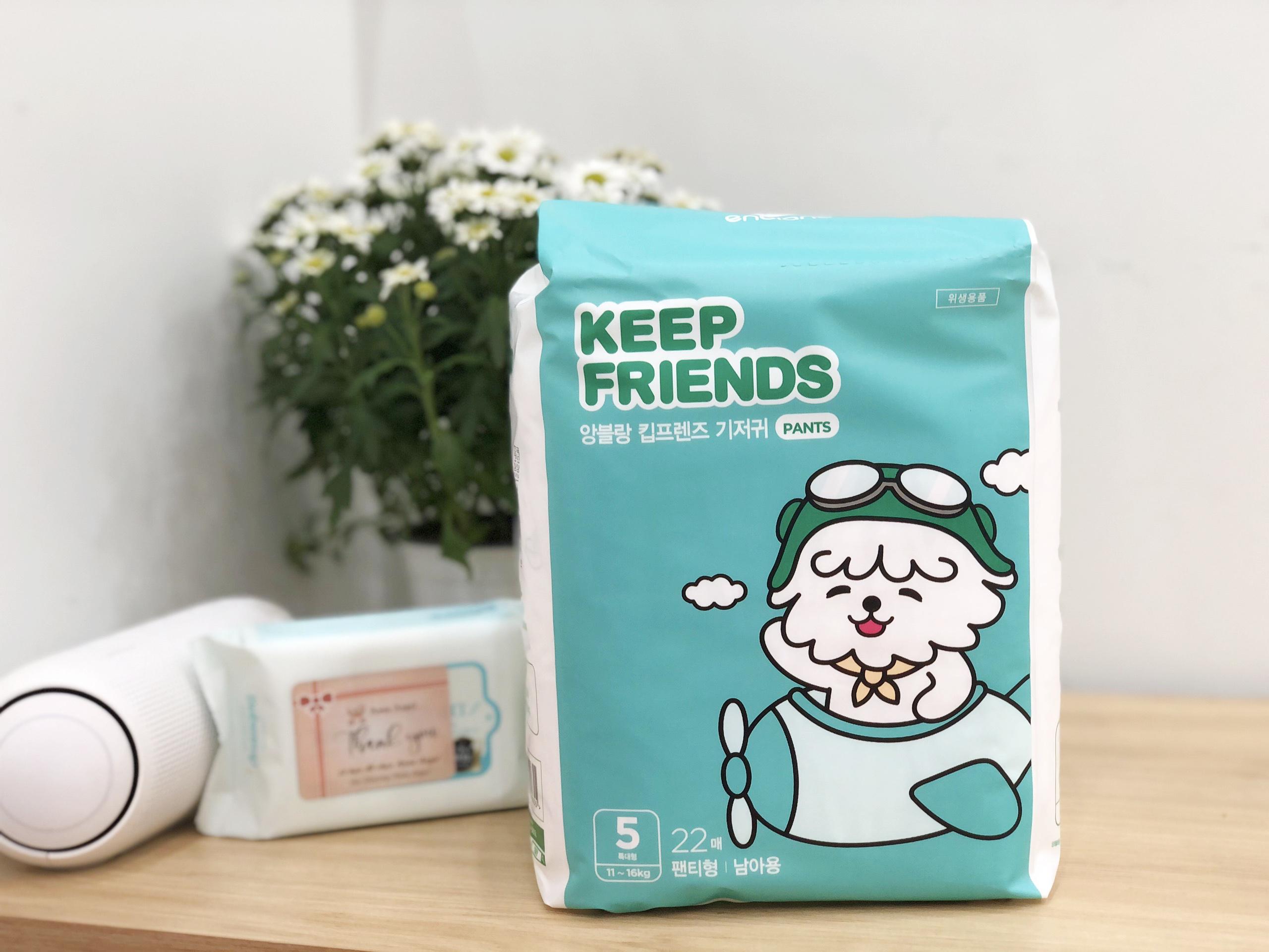 Tã bỉm quần Enblanc Keep Friends Hàn Quốc siêu thấm 6