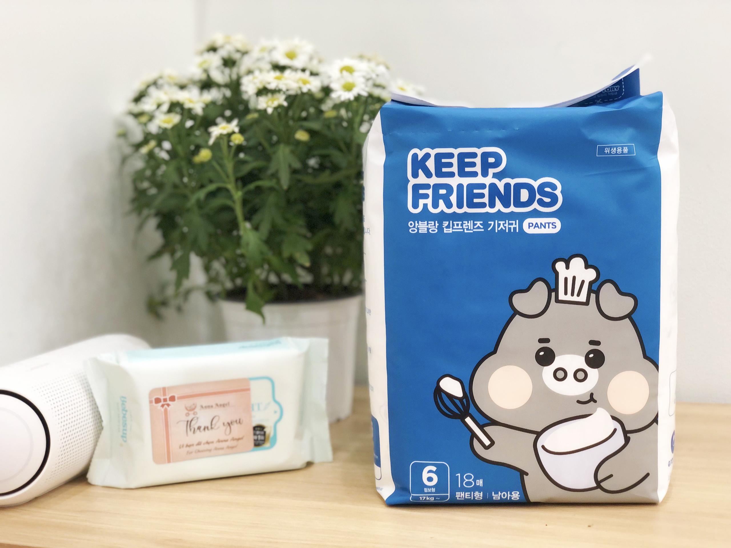 Tã bỉm quần Enblanc Keep Friends Hàn Quốc siêu thấm 7