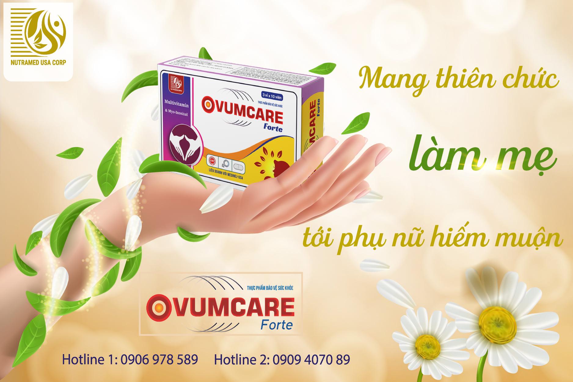 Viên uống Ovumcare Forte hỗ trơ tăng khả năng thụ thai 1