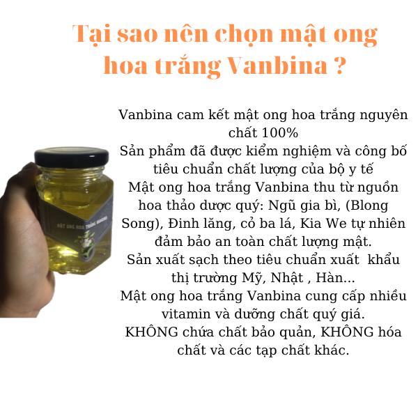 Mật ong hoa trắng Blongsong 250gr nguyên chất xuất khẩu 2