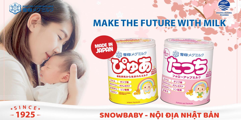 Sữa Snowbaby Pure Nhật Bản số 0 cho Bé Từ 0 đến 12 Tháng Tuổi 1