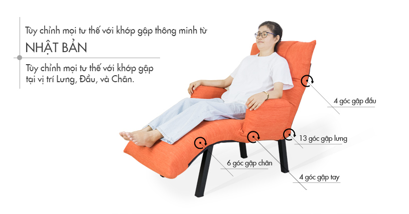 QL360, ghế thư giãn, ghế ngủ tựa lưng dành cho bà bầu, người già 1
