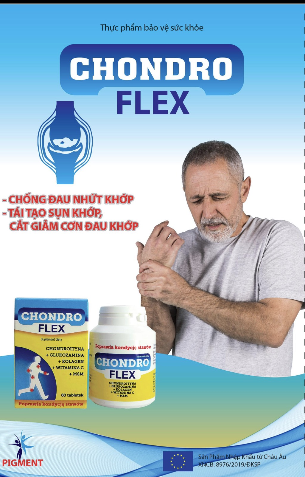 Viên uống hỗ trợ xương khớp Chondro flex hàng nhập khẩu chính hãng 2