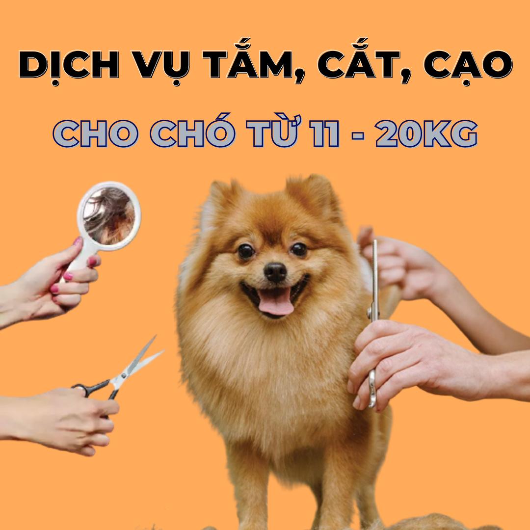 Voucher dịch vụ tắm cắt cạo lông cho chó từ 11kg tới 20kg 1
