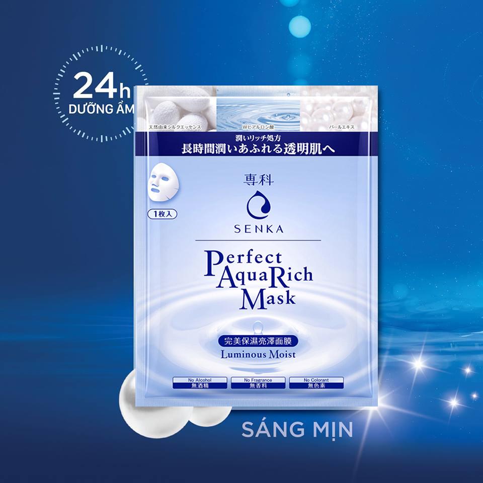 Mặt nạ Senka Perfect AQua Rich Mask Luminous Moist 1