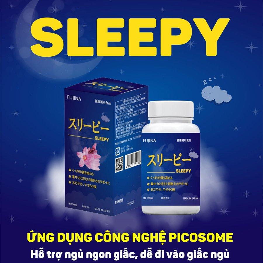 Viên Uống Hỗ Trợ Ngủ Ngon Sleepy Nhật Bản 1