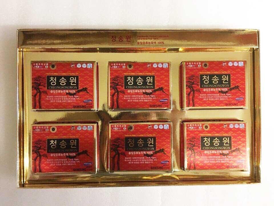 Tinh Dầu Thông Đỏ Cheongsongwon Cao Cấp Hàn Quốc,Hộp Đỏ 180 v 1