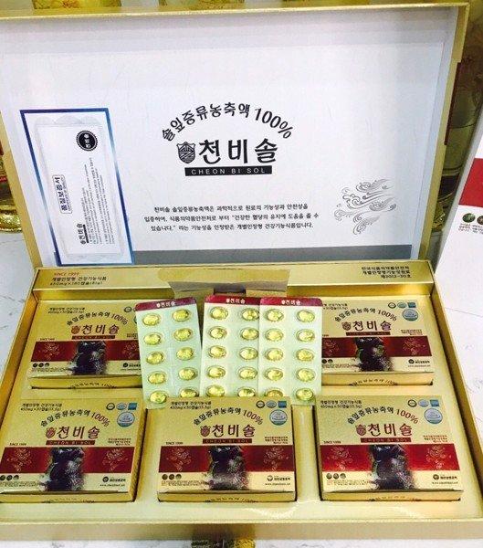 Tinh Dầu Thông Đỏ Cheong Bi Sol Hoàng Gia Hàn Quốc 180 Viên 1