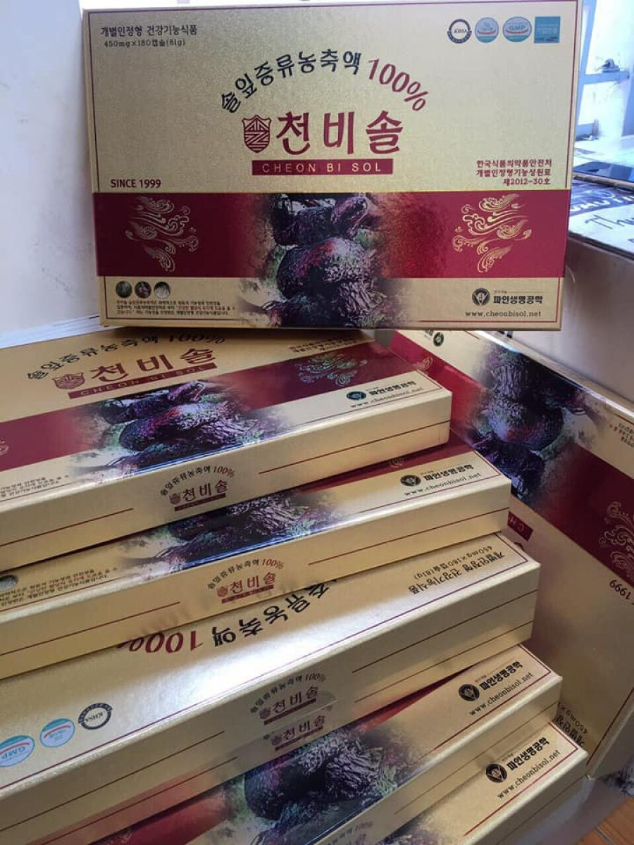 Tinh Dầu Thông Đỏ Cheong Bi Sol Hoàng Gia Hàn Quốc 180 Viên 2