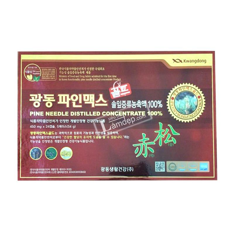Viên Tinh Dầu Thông Đỏ Kwangdong Pine Needle Distilled Concentrate 1