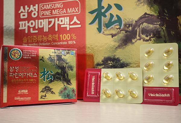 Viên Tinh Dầu Thông Đỏ Samsung Pine Mega Max 180 Viên Hàn Quốc 1