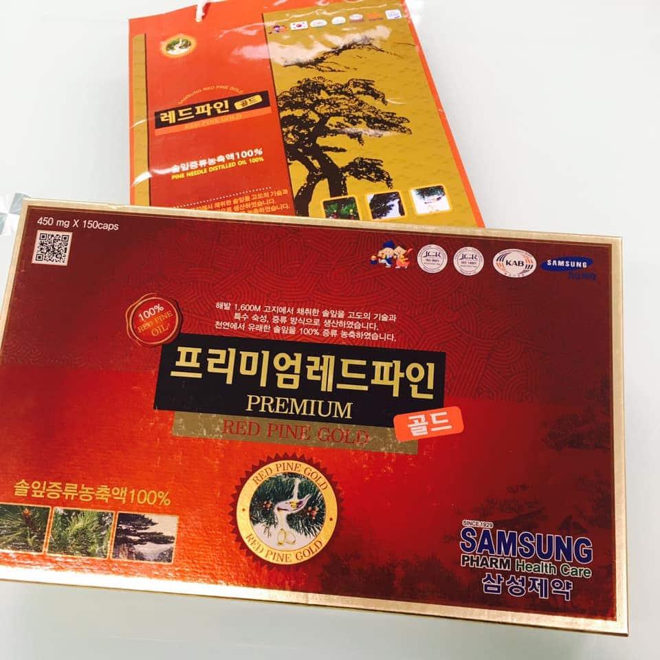 Tinh dầu thông đỏ Samsung 150 viên Samsung Premium Red Pine Gold 1