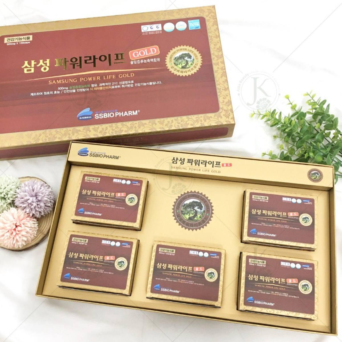 Tinh Dầu Thông  Đỏ Samsung Power Life Gold 180 Viên 1