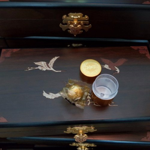 An Cung Ngưu Hoàng Hàn Quốc Kwangdong Hộp Gỗ Nâu 1