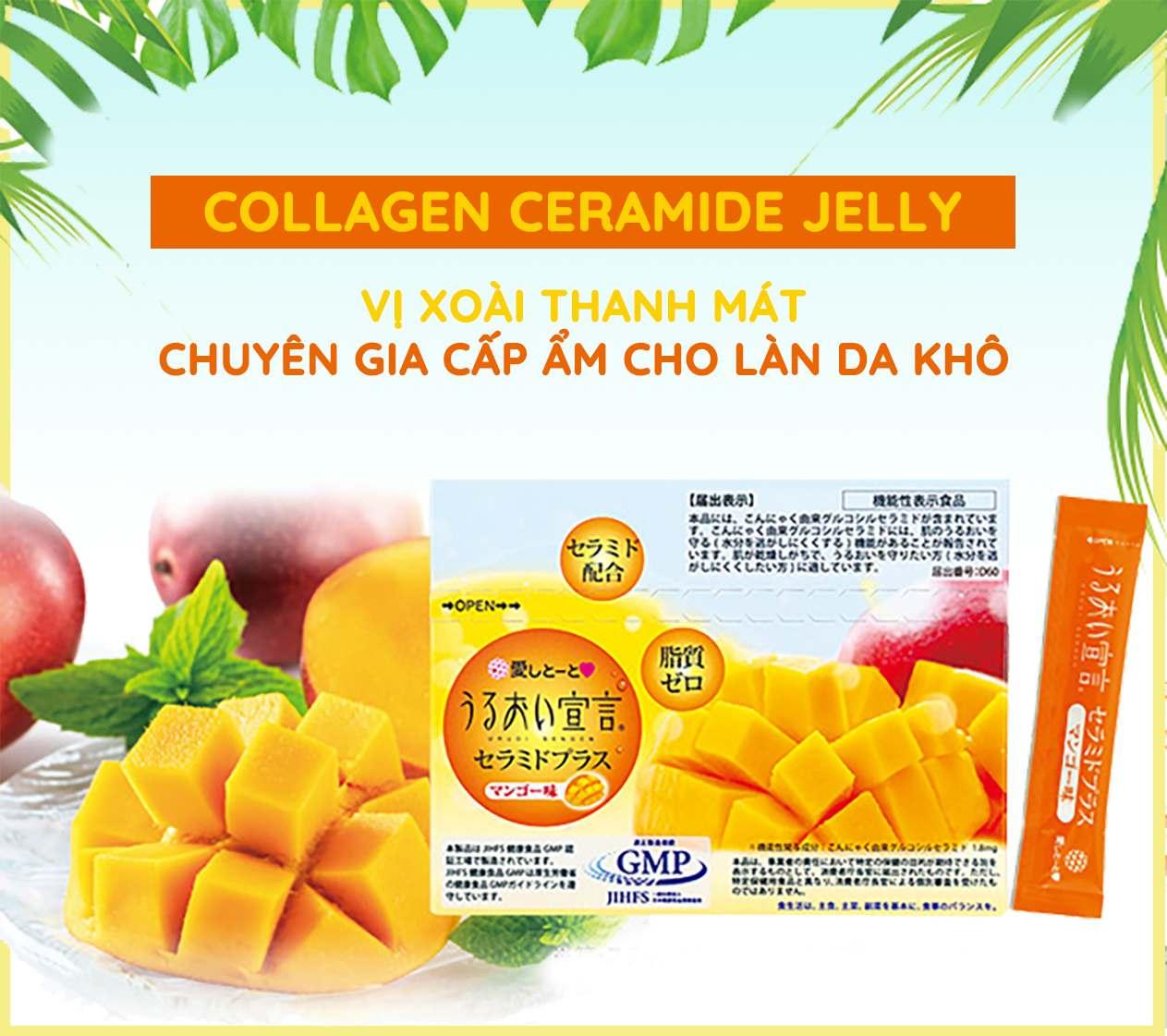 Thạch Collagen Vị Xoài Aishitoto Collagen Jelly Ceramide Mango 1