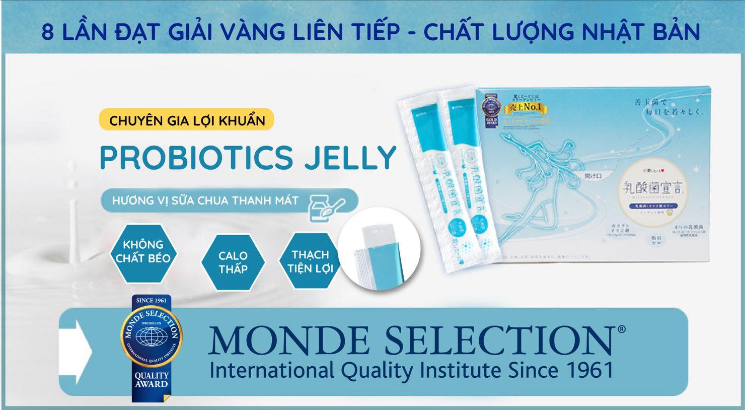 Thạch Hỗ Trợ Tiêu Hóa Aishitoto Probiotics Jelly 2