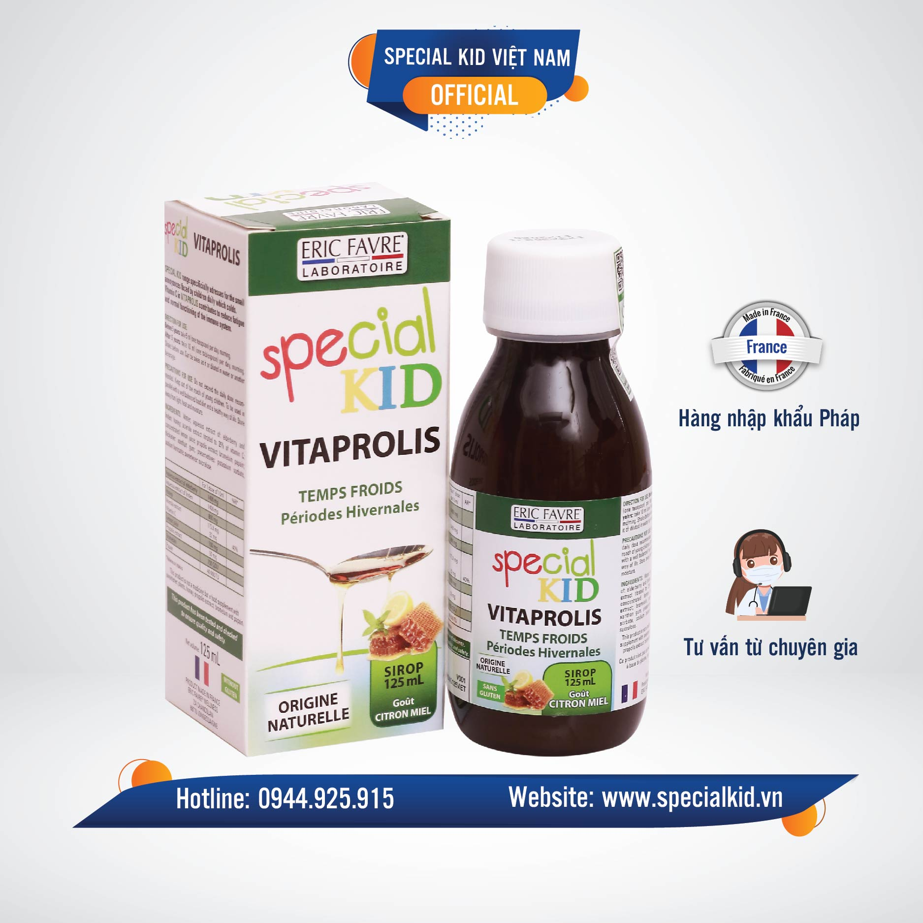 Siro Ho Special Kid Vitaprolis bảo vệ sức khỏe hô hấp cho bé 1
