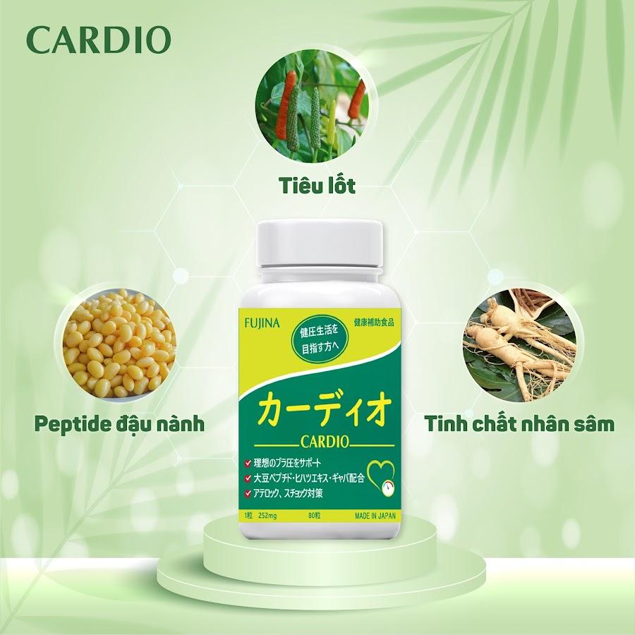 Viên hỗ trợ ổn định huyết áp Cardio Nhật Bản 1