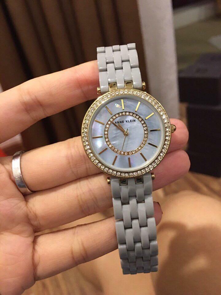 Đồng hồ nữ Anne Klein Ak/2620GYGB dây ceramic mầu ghi 34mm 1