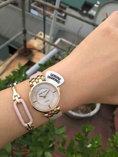 Set đồng hồ nữ AK/2684LPST Anne Klein  dây da 4 chi tiết 3