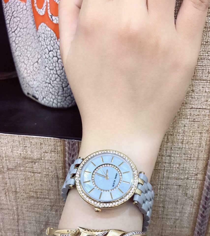 Đồng hồ nữ Anne Klein Ak/2620GYGB dây ceramic mầu ghi 34mm 3