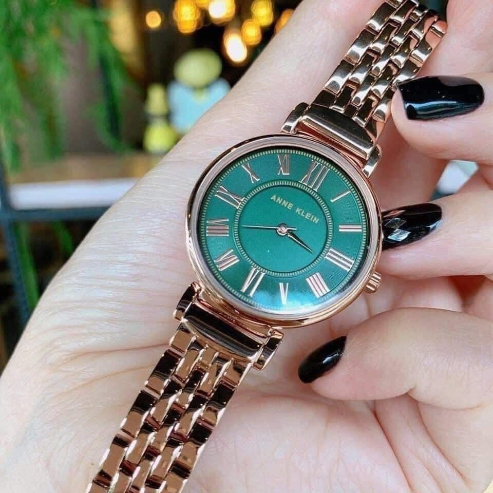 Đồng hồ nữ Anne Klein AK/2158GNRG mặt xanh case 30mm 3