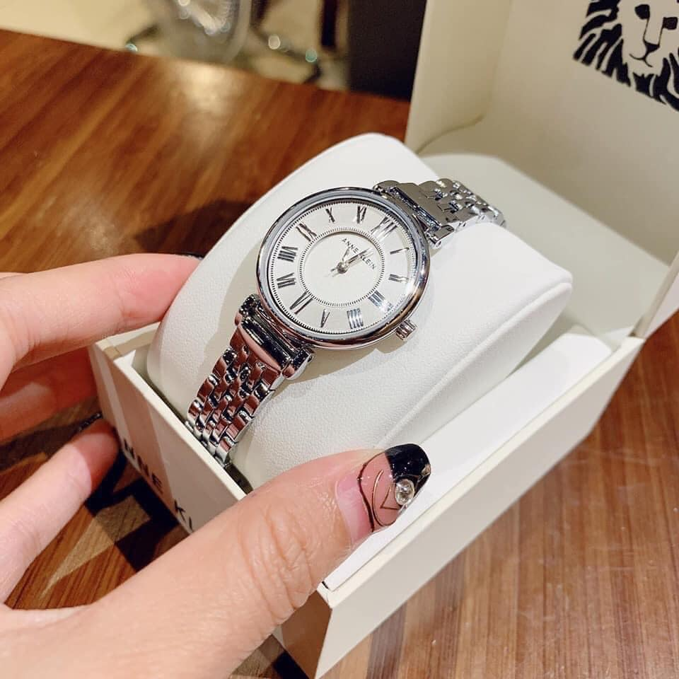 Đồng hồ nữ Anne Klein AK/2159SVSV Silver-Tone Bracelet 30mm 2