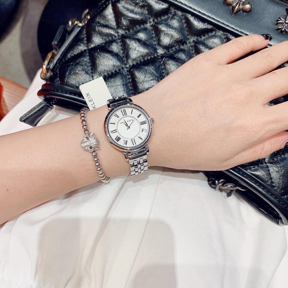 Đồng hồ nữ Anne Klein AK/2159SVSV Silver-Tone Bracelet 30mm 4