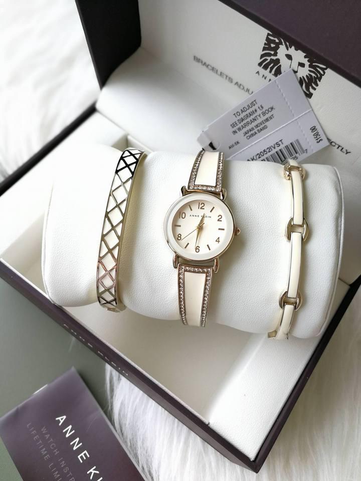 Set đồng hồ nữ Anne Klein AK/2052WTST 3 chi tiết 30mm 1