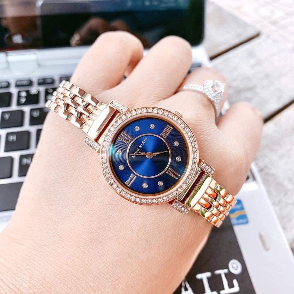 Đồng hồ Nữ Anne Klein AK/2928NVRG dây kim loại màu vàng 3