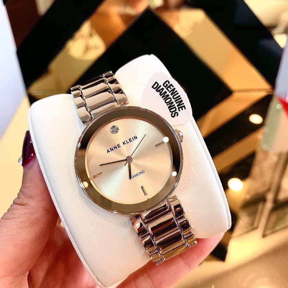 Đồng hồ nữ Anne Klein AK/1362CHGB màu vàng Gold 32mm 4