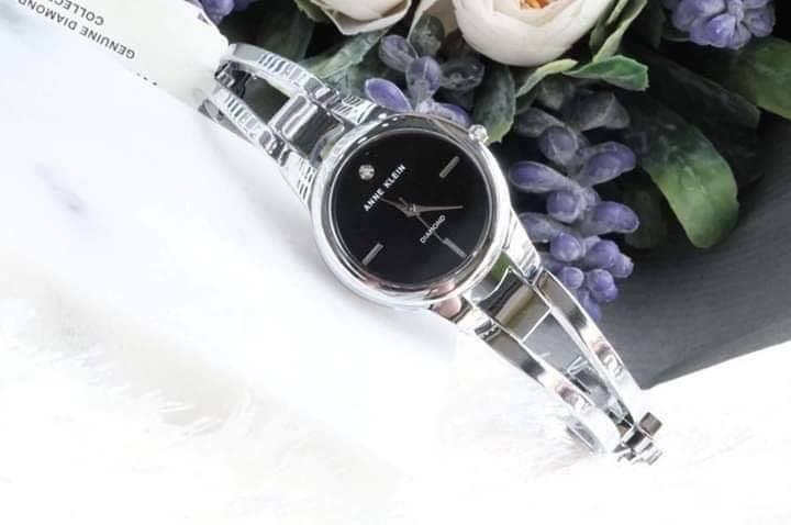 Đồng hồ nữ Anne Klein AK/2629BKSV dây kim loại case 32mm 3
