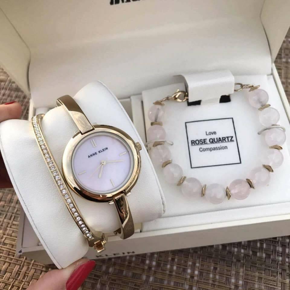 Set đồng hồ nữ Anne Klein AK/2866RQST  case 30mm 1