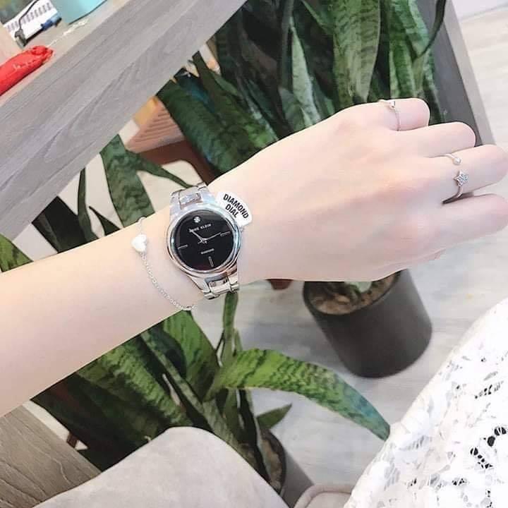 Đồng hồ nữ Anne Klein AK/2629BKSV dây kim loại case 32mm 2