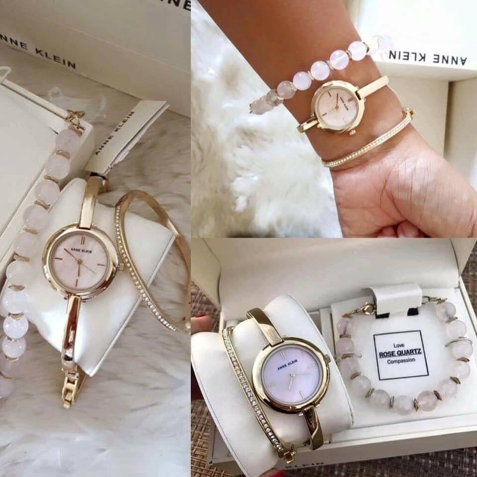 Set đồng hồ nữ Anne Klein AK/2866RQST  case 30mm 2