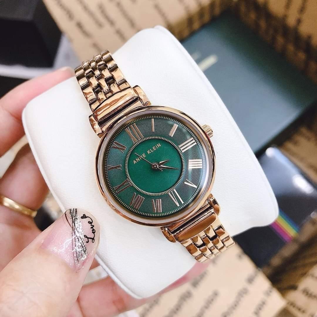 Đồng hồ nữ Anne Klein AK/2158GNRG mặt xanh case 30mm 1
