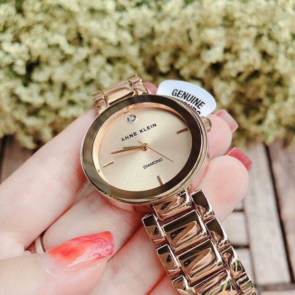 Đồng hồ nữ Anne Klein AK/1362CHGB màu vàng Gold 32mm 2
